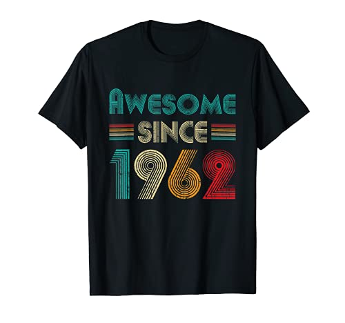 Awesome Since 1962 59th Birthday Gifts 59 Years Old Vintage Camiseta