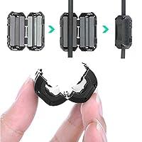 フェライトコア 50個セット ノイズフィルター パッチンコア ヒンジ式 USB電源線 車 高周波 ノイズ カット カー オーディオ 音質 向上 内径 Φ3.5mm/Φ5mm/Φ7mm/Φ9mm/Φ13mm