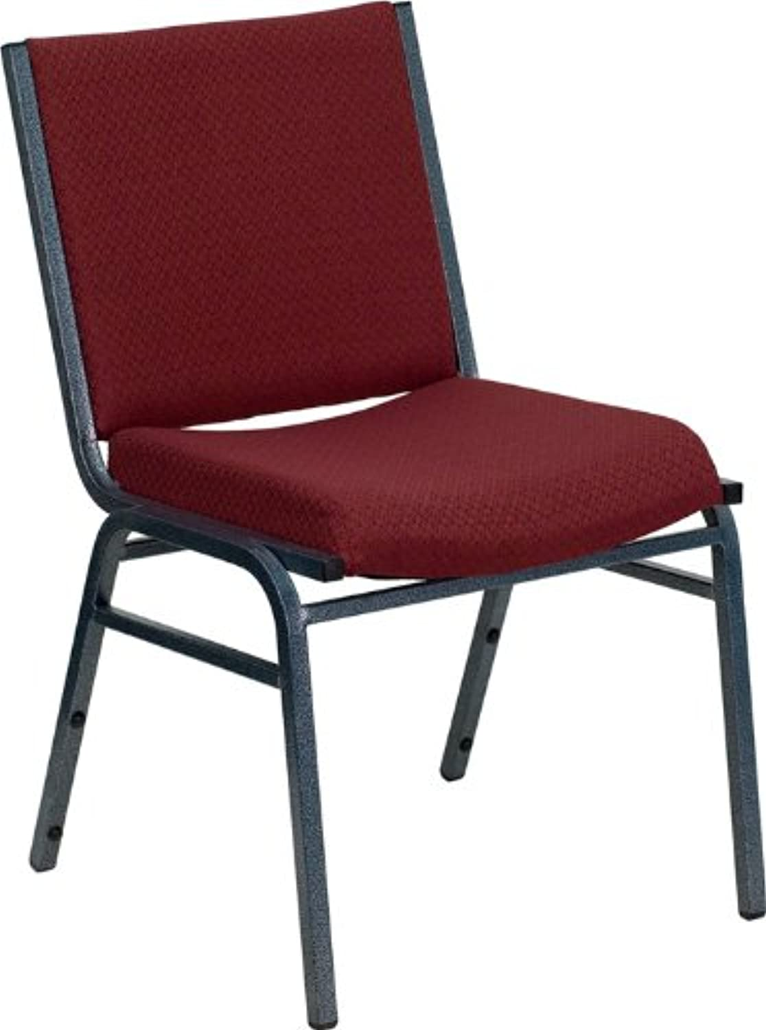 Offex OF-XU-60153-BY-GG Hercules Series Heavy Duty 3-Inch Thickly Padded, Burgundy Patterned Upholstered Stack Chair