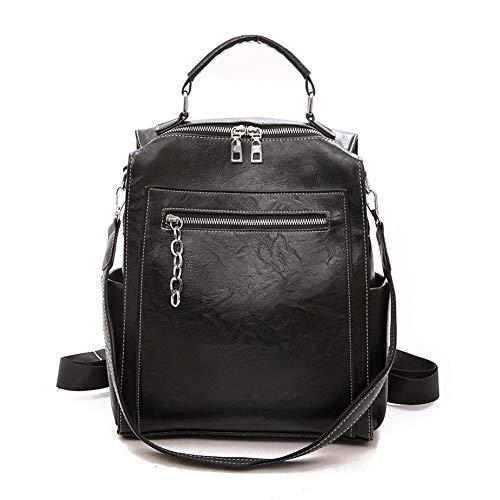 Baruyo schoudertas van PU-leer, modieus, voor dames, waterdicht, gekruist, licht, voor reizen voor meisjes, Blanco Y Gris (zwart) - gzm-31468