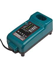 NI-CD & NI-MH Cargador de batería para Makita Cargador DC1414, 193864-0,DC7100, DC9700, DC18RA, DC18SE, Batería 7.2V-18V Reemplazo de la herramienta eléctrica Cargador de batería LaiPuDuo
