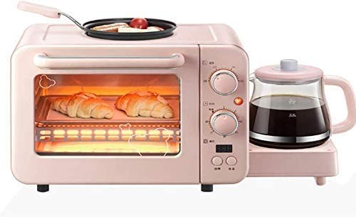 Allamp Multi-Funktions-8L Ofen Toaster und Wasserkocher Sets, Premium Home Automatische Frühstück Maschine mit Topf, Auto-Abschaltfunktion lxhff