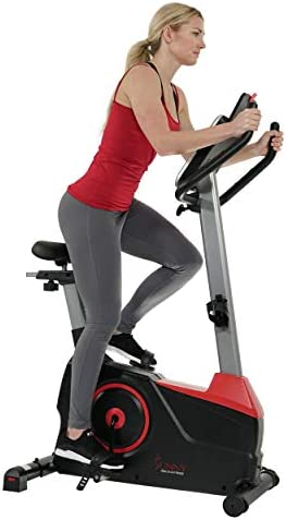 Sunny Health Fitness Evo Fit Stationary Upright Bike with 24 Level Electro Magnetic Resistance product image