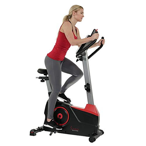 Sunny Health & Fitness Evo-Fit Stationary Upright Bike with 24 Level Electro-Magnetic Resistance - SF-B2969