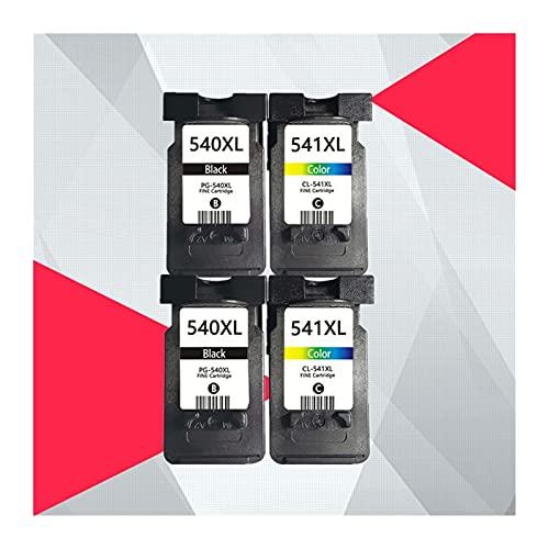 Voor Canon PG-540 PG540 CL541 CL-541 Inktcartridges PG 540 CL 541 PIXMA MG3250 MG3255 MG3550 MG4100 MG4150 MG4200 MG4250 PG-540XL (Color : 2BK 2COLOR)