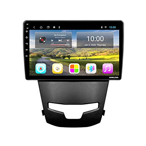 ADMLZQQ 9 Pulgadas Android 8.1 Radio Coche Estéreo Unidad Principal para SsangYong Korando 3 Actyon 2 2014-2016, GPS/Bluetooth/FM/Control del Volante/Cámara Trasera,4 Core,WiFi: 1+16G
