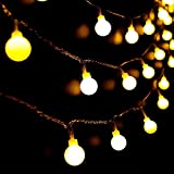 Guirnalda Luces Exterior Solar, 80 LED 17M Cadena Solar de Luces, IP65 Impermeable 8 Modos Guirnaldas Luces Solar para Exterior Interior Jardines Fiesta Boda Casas Festival (Blanco Cálido)