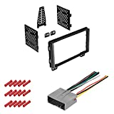 CACHÉ KIT353 Bundle with Car Stereo Installation Kit for Ford 2003 – 2006 Expedition – in Dash Mounting Kit, and Harness for Double Din Radio Receivers (3 Item)