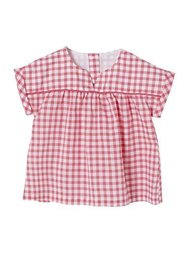 Vertbaudet - Bata para bebé, diseño de flores Azulejos rosa 3 Meses