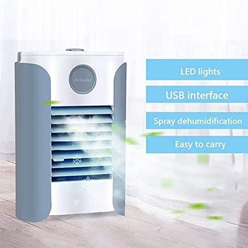 XJYDS Umidificatore, purificatore con USB, mini condizionatore d'aria portatile, dispositivo di raffreddamento aria personale, 3 in 1 refrigeratori evaporativi, 3Speeds Desktop Fan di raffreddamento p