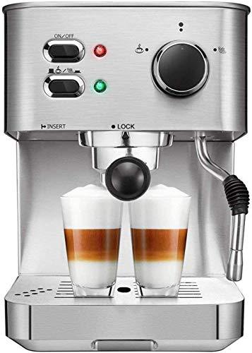 General Espressomaschine Cappuccino Kaffeemaschine mit Milchdampfer Düse 15 Bar Pump Latte und Moka Maschine Edelstahl Warm Top für Tasse Platzieren 1050W
