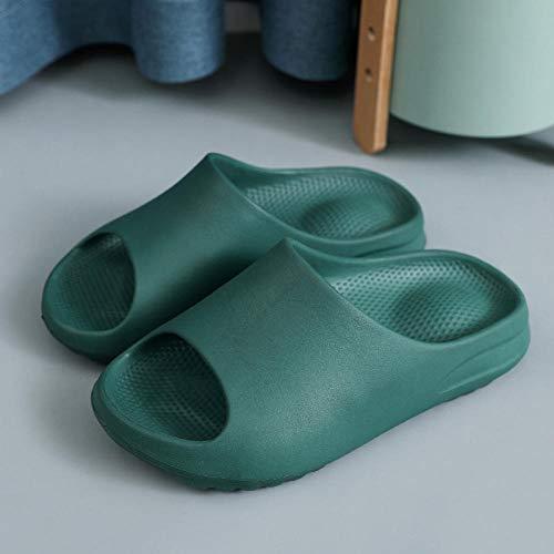 HUSHUI Chanclas de Playa Zapatos de Piscina para Niña,Zapatillas de baño Antideslizantes, Sandalias de Pareja de Suela Gruesa para el hogar-Green_35-36,Sandalia Tipo Chancla Verano