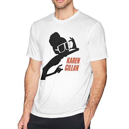 IUBBKI Camiseta SP-ies in DIS-Guise Hombre Casual Comfort Camisetas de Manga Corta Tops Blanco