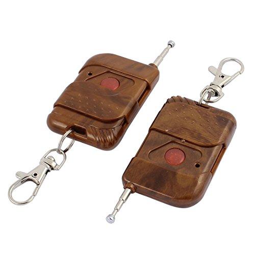 Aexit 2 Stücke 433 Mhz Funkfernbedienung Schlüsselanhänger für Elektrische Tür Alarmanlage (d556855f638df432be499726855034e8)