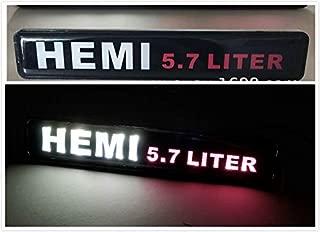 Gooogo HE-LED RAM Charger Challenger Durango Journey Hemi 5.7 Liter LED Light Car Front Grille Badge Illuminated Decal For Ram 1500 2500 3500 4500