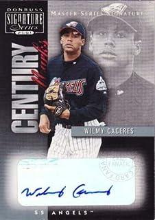 ウィルミー・カセレス Wilmy Caceres 2001 Donruss Signature Century Marks Master Series Signatures MLBカード
