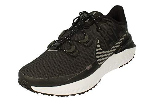 Nike Legend React 3 Shield Hombre Running Trainers CU3864 Sneakers Zapatos (UK 11.5 US 12.5 EU 47, Black Metallic Dark Grey 001)