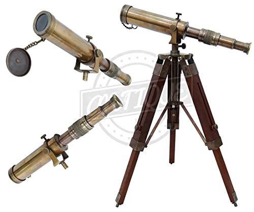 Estilo antiguo latón macizo calidad Spyglass telescopio