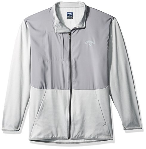 Review Of Callaway Men's Big Big & Tall Opti-Therm Long Sleeve Full-Zip Waffle Fleece Jacket, High Rise Heather, 2X-Large Tall