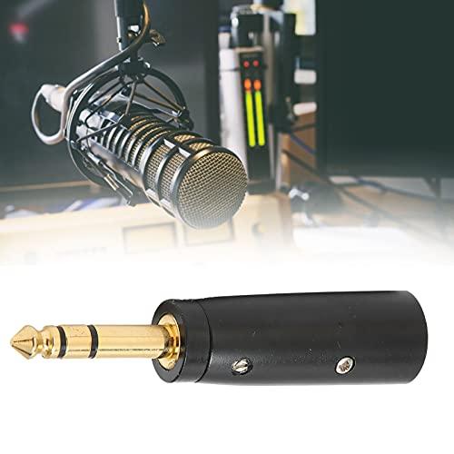 Adaptador de auriculares jack de 6,35 mm, 1 paquete XLR macho de 3 pines a 6,35 mm macho estéreo jack adaptador de audio para todo tipo de guitarra Cable de audio, cable mezclador, transferencia de in