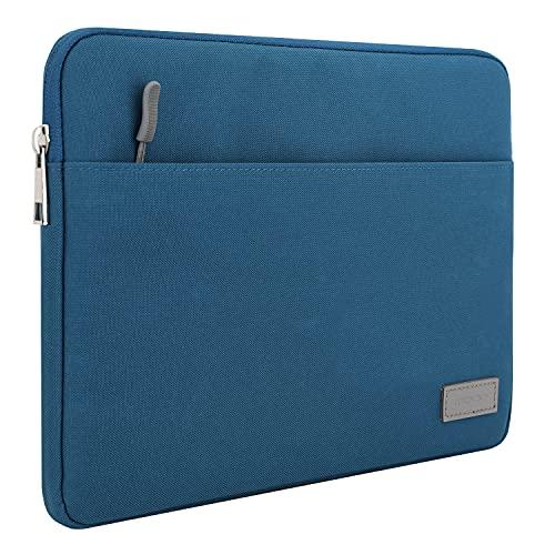 MoKo 11 Pulgadas Tableta Funda Poliéster Cierra de Camellera Compatible con iPad Pro 11 2021/2020/2018, iPad 9ª 8ª 7ª Gen 10.2, iPad Air 4ª 10.9/3, Surface Go 2, Galaxy Tab 10.5, Pavo Real Azul