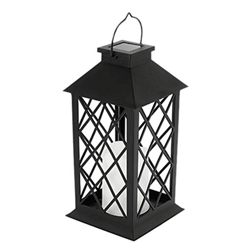 Beada 1 Pcs Solar Lantern Hanging Light LED Candle Yard Outdoor Patio Garden Lamp for Patio Landscape Yard Waterproof