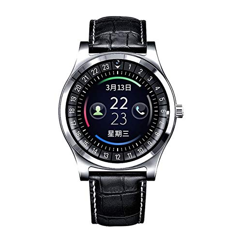 MeterMall Smart Watch R68 Bluetooth Rond Scherm Smartwatch Ondersteuning SIM TF kaart Sleep Tracker Call Herinnering Pedometer Bluetooth Mannen Horloge Zilver grijs