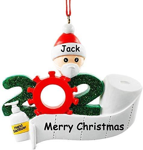 NewX Weihnachtsbaumschmuck 2020 Ornament Quarantäne zu Hause Familie von personalisierten Baum Weihnachtsschmuck_yh002