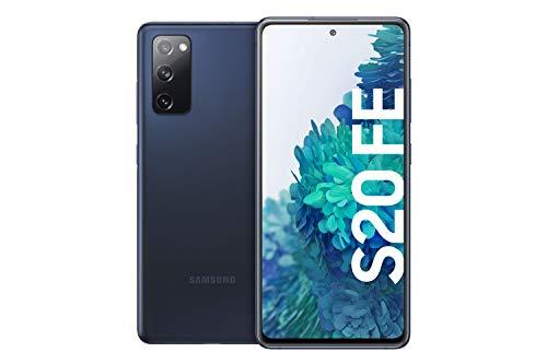 Samsung Galaxy S20 FE, Android Smartphone ohne Vertrag, 6,5 Zoll Super AMOLED Display, 4.500 mAh Akku, 128 GB/ 6 GB RAM, Handy in Dunkelblau inkl. 36 Monate Herstellergarantie [Exklusiv bei Amazon]