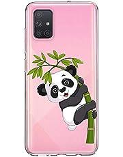 Oihxse Cristal Compatible con Samsung Galaxy J6 2018 Funda Ultra-Delgado Silicona TPU Suave Protector Estuche Creativa Patrón Panda Protector Anti-Choque Carcasa Cover(Panda A3)