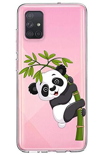Oihxse Silicone Crystal Coque pour Samsung Galaxy J4 Prime/J4 Plus/J6 Prime/J6 Plus Ultra-Thin Transparente Gel TPU Souple Etui Design Motif Mignon Panda Protection Antichoc Housse Bumper (Panda A3)