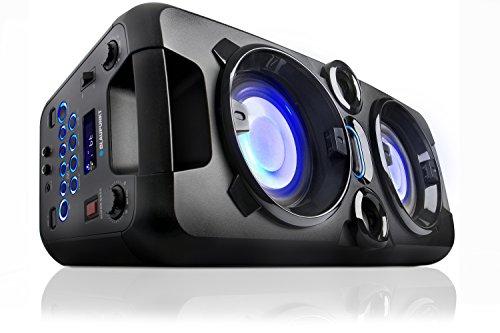 Blaupunkt Party-Lautsprecher PS 1000, Lautsprecher mit Bluetooth, Musikanlage mit integriertem Akku, AUX-IN, UKW-PLL-Radio, 60W RMS, USB, inkl. Mikrofon, als Karaoke-Anlage nutzbar