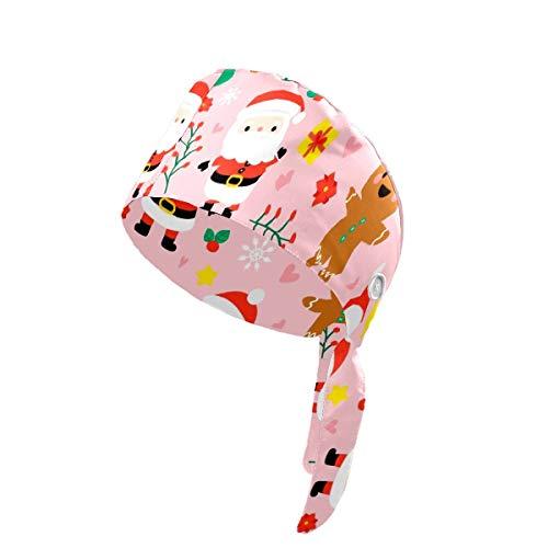 Gorra de trabajo con botones, ajustable, para hombre y mujer, talla única, dibujada a mano