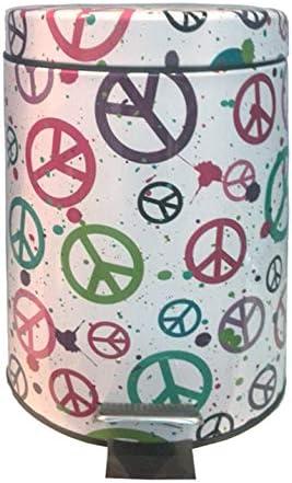 PAPELERA INOX C//PEDAL 5L PEACE