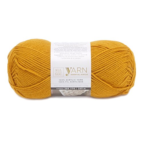 Darice, Things You, Essential Acylic Solid Color Yarn, Gold