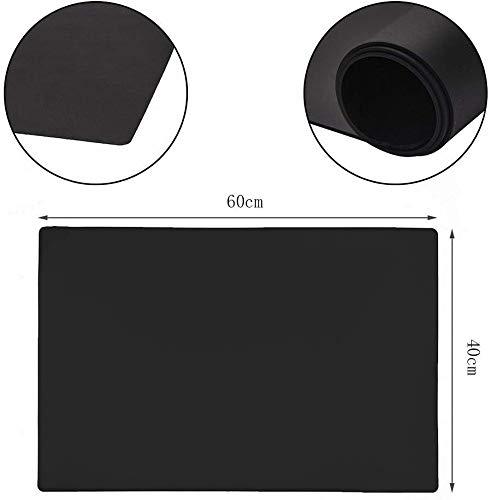 Eshinny大きいシリコンゴムマット60X40CM断熱保護耐熱温度-40℃-230℃(ブラック)