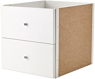 Ikea Kallax Shelving Units Insert with Door (2 Drawer, White)
