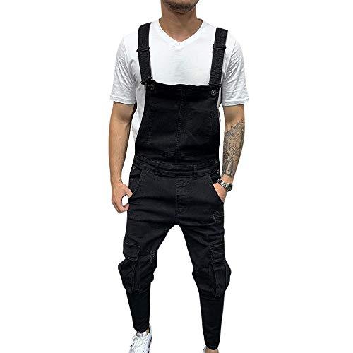 Vertvie overalls jeansbroek voor heren, biker, Destroyed retro, denim, skinny fit, streetwear, scheuren, werkbroek, jumpsuit, lange broek, vrijetijdsbroek