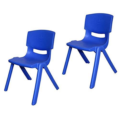Mesas CJC Sillas Dos Trozo Salón De Clases, Fuerte Plástico, Infantil Niños Té Partido Jardín Guardería Colegio Clubs (Color : Azul, Tamaño : 53cm)