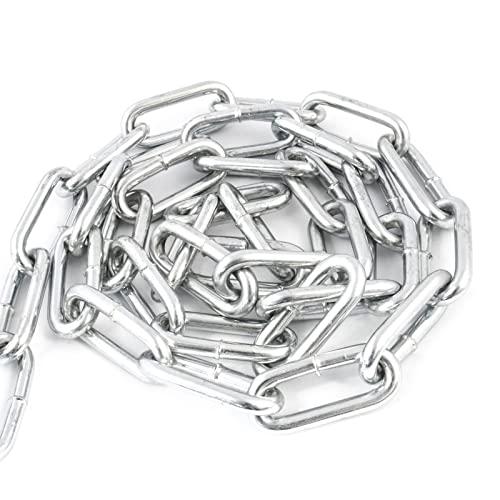 DQ-PP Stahlkette Stahl C15 | 5 mm | 32 m | Langgliedrig C2 | Verzinkt | DIN 5685 | Absperrkette | Metall | Rundstahlkette | Eisenketten | Absperrketten | Zurrketten