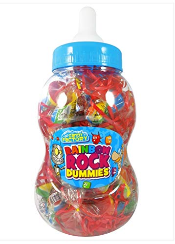 Crazy Candy Factory Rainbow Rock Schnuller, 60 g, 30 Stück