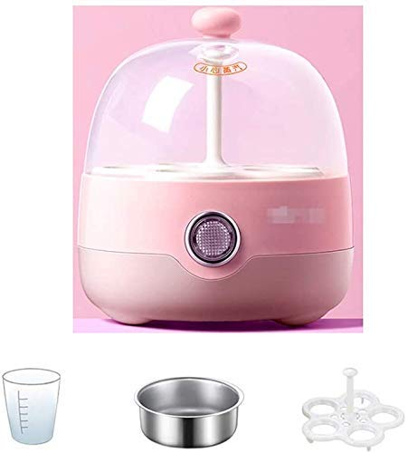 Eierkoker - automatische fornuis met het verwarmen functie - met inbegrip van stoomkoker, stoom kom en het meten van kop-roze, roze QIANGQIANG (Color : Pink)