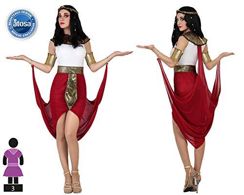 Atosa-22812 Disfraz Egipcia, color rojo, M-L (22812)
