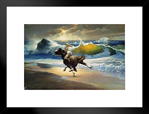 Poster Foundry Wild Ride by Frank Frazetta Art Print Matted Framed Wall Art 20x26 inch