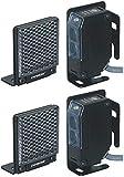 Seco-Larm E-931-S35RRQ NIR Reflective Photoelectric Sensor (Pack of 2); For outdoors gates, garage doors, etc; Weatherproof (IP66) construction for indoor/outdoor usage; Adjustable sensing distance