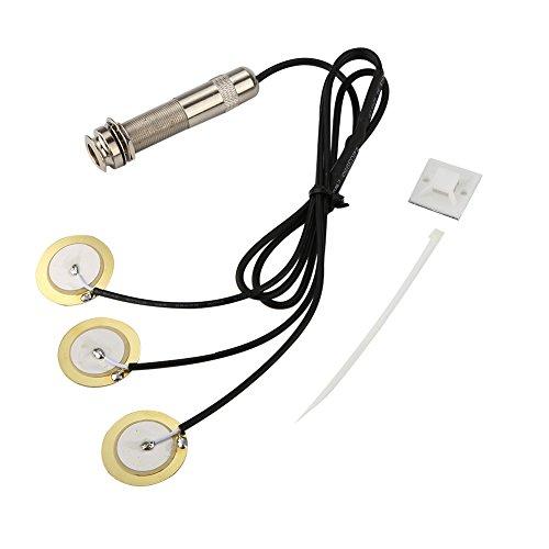 Pastilla piezoeléctrica de guitarra, pastilla precableada, amplificador piezoeléctrico, transductor para pieza de repuesto de guitarra, accesorio