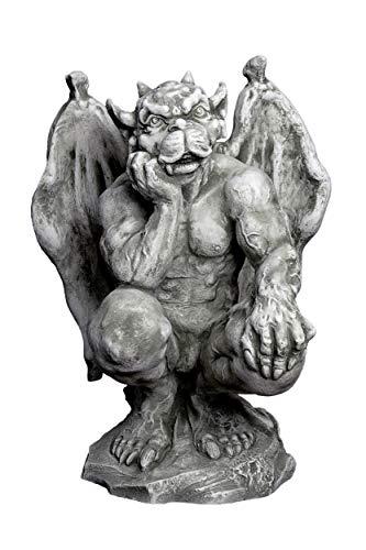 gartendekoparadies.de Massive riesige Gargoyle Statue Torwächter aus Steinguss frostfest