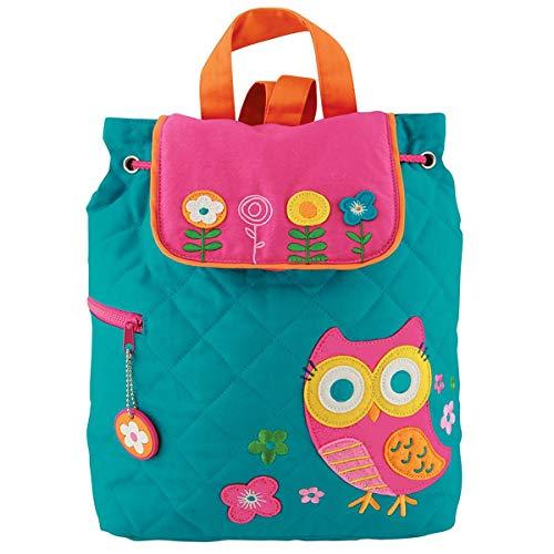 Sac à dos matelassé Sac à dos enfant en coton avec motif hibou chouette owl Owls Marron à dos jardin d'enfants jardin d'enfants