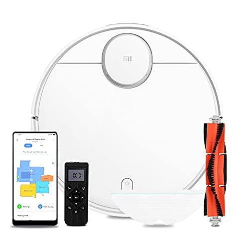 Xiaomi Mijia Mi Robot Aspirador, 2100Pa de Succión Fuerte, Control de Aplicación Mijia&Google Assistant & Alexa, Sala de reconocimiento automático