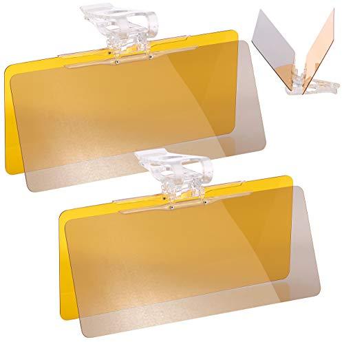 Lescars Autosonnenblende: 2er-Set Tag- & Nacht-Blendschutz für Auto-Sonnenblenden, je 30 x 13cm (Sonnenschutzblende)